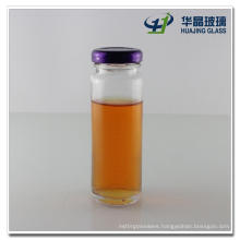 110ml 4oz Empty Ruound Glass Cider Vinegar Bottle with Screw Metal Lid