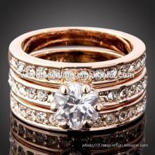 top quality bridal lady three layered titanium wedding ring