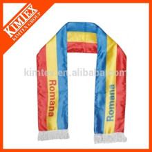 2016 OEM дешевый полиэфирный атласный шарф