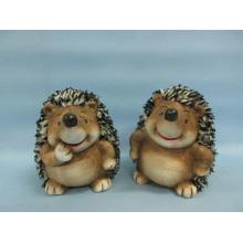 Hedgehog forma de artesanía de cerámica (LOE2530-C12)