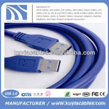 Дешевая цена двухсторонний usb кабель мужской к мужской usb 2.0 3.0data кабель 3m