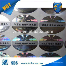 Logo 3D barato e etiqueta de holograma raspada