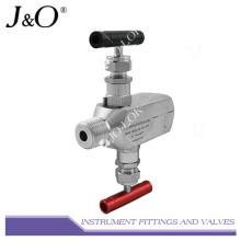 Collecteur de valve d'instrument femelle en acier inoxydable