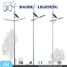 6mpole 30W LED 300W Turbine Solar Wind LED Light