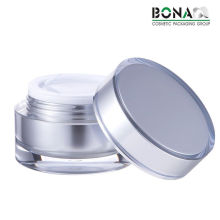 Pot cosmétique en plastique clair de pot de crème de jour de pot acrylique 60g clair