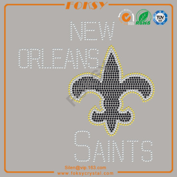 New Orleans saints rhinestone iron på lappar