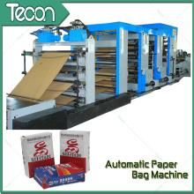 Totalmente automático Flexo impressão saco de papel que faz a máquina
