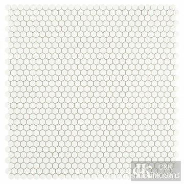 Mini mosaico de vidrio hexagonal para pared de baño