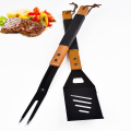 2pcs fourchette et spatule barbecue