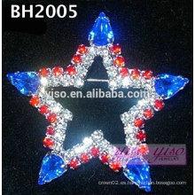 Perno de la broche del diamante artificial de la estrella