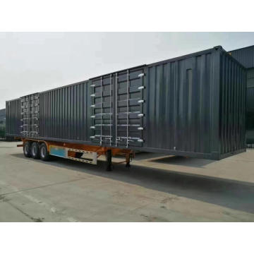 Terlaris 2/3 Axles Flatbed Container Semi Trailer
