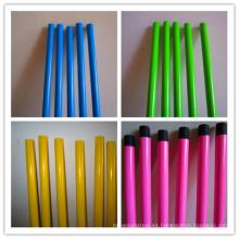 Manijas coloridas de la escoba del metal con rojo / verde / amarillo / azul