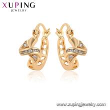 96855 xuping moda chapado en oro simulación pendientes de cristal para las mujeres