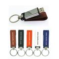Moda em couro usb flash drive