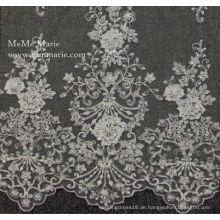 Entwürfe von Kurtis mit Schnürsenkel Älteste Stickerei Blume Elastische Spitze für Brautkleid Gewebe Schnürsenkel 52 '' No.CA115B