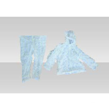 Roupas de camuflagem com divisão de neve