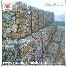 Panier enduit de PVC / grillage hexagonal / Gabion pour la construction