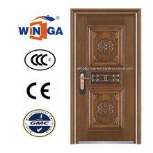 Puerta de cobre de acero de la entrada de la seguridad de la alta calidad (W-ST-02)