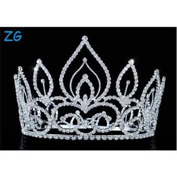 Alta qualidade Rhinestone casamento coroas tiaras cristal meninas coroas