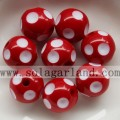 Wholesale 12-24MM Resin Polka Dot Beads Plastic Round Beads