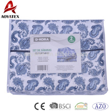Fashion style 75gsm 100% polyester 4pcs microfiber sheets and bed sheet set for home use