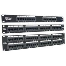 Rede cat6 cat5e 12 24 48 painel de patch porta 8p8c montagem em rack tipo estilo snap-in
