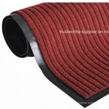 Indoor Outdoor Ribbed Carpet Entrance Mat-Red