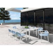 Muebles de comedor de moda al aire libre