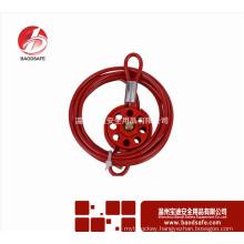 Wenzhou BAODSAFE BDS-L8631 Red Adjustable Wheel Cable Lockout Safety lockout tagout