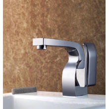Grifo de lavabo de latón duradero solo mango baño de agua robinet (q3034)