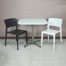 Double Color Plastic Chair and Square Table with Plastic Table Top and Iron Table Base (SP-CT352)