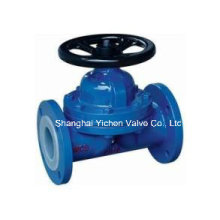 PFA Lined Diaphragm Valve Weir Type for Chemical