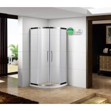 Cabine de douche en quart de cercle