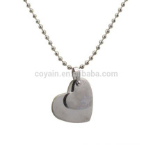 Personalized Blank Stainless Steel 2 Piece Heart Necklace