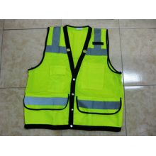 High Visibility Vest Bulletproof Reflective Workwear Safety Vest