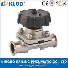 sanitary clamp stainless steel diaphragm valve KLGMF-20M