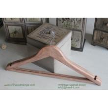 Cabide de madeira barato, cabide de madeira t-shirt, cabide Popular