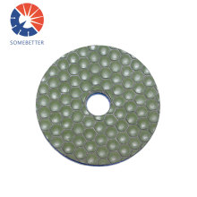 Diamond abrasive tool dry flexible polishing pad for granite marble