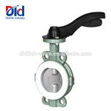 Stocker la poignée de remplacement en fonte ductile disque Ptfe Seal concentrique en acier inoxydable vanne papillon