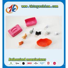 Mini brinquedo animal e plástico bonito do jogo do cão e do jogo do cão para crianças