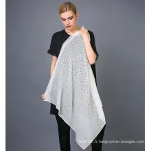Echarpe à imprimé laser en soie