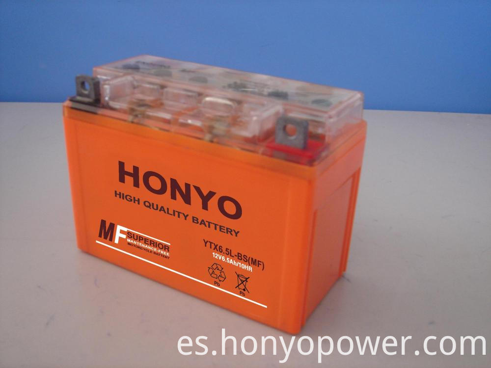 12V 6.5Ah MF Motorcycle Batteries