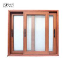 Tailles de fenêtre en aluminium coulissantes standard de la fenêtre en verre en aluminium du Myanmar