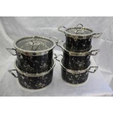 Design de moda de aço inoxidável pote de cozinha conjunto de panelas