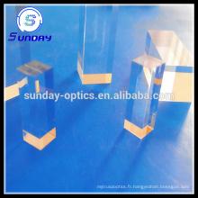 Lentille optique carrée de tige de cylindre (JGS1 a fondu la silice)