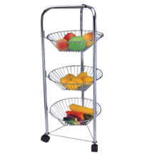 triangle cart wIth fruit baskets