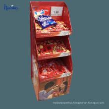 High quality cardboard cupcake food display shelf,paper display stand for shop