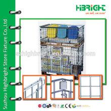 steel mesh foldable storage bins