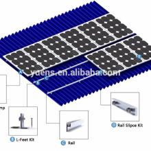 Sistema de estante de montaje de techo de metal solar de aluminio de alta calidad