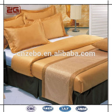 Hot Selling Wholesale Customized Jacquard King /Queen Size Hotel Bed Scarf/ Bed Runner